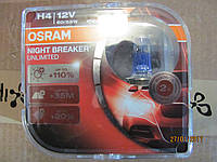 Лампы авто Н4 Р43 12V 60/55W OSRAM NIGHT BREAKER UNLIMITED