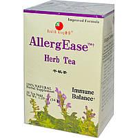 Health King, Травяной чай AllergEase, 20 пакетиков, 34 г