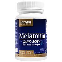 Jarrow Formulas, Мелатонин быстрорастворимый, ванильный вкус, 300 мкг, 100 пастилок