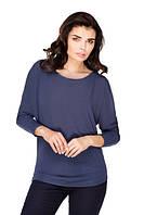 Аника деним трикотажная блуза в свободном стиле
