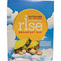 Rise Bar, Питательный батончик, с хрустящим орехом макадемия и ананасом, 12 батончиков, 1,4 унции (40 г) Каждый