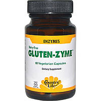 Country Life, Gluten-Zyme, 60 вегетарианских капсул