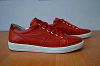 Кожаные кеды красные Ed-ge