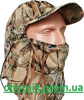 Маскировочная кепка с сеткой на лице, расцветка камыш.