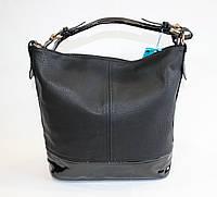 Женская сумочка на одну ручку черного цвета