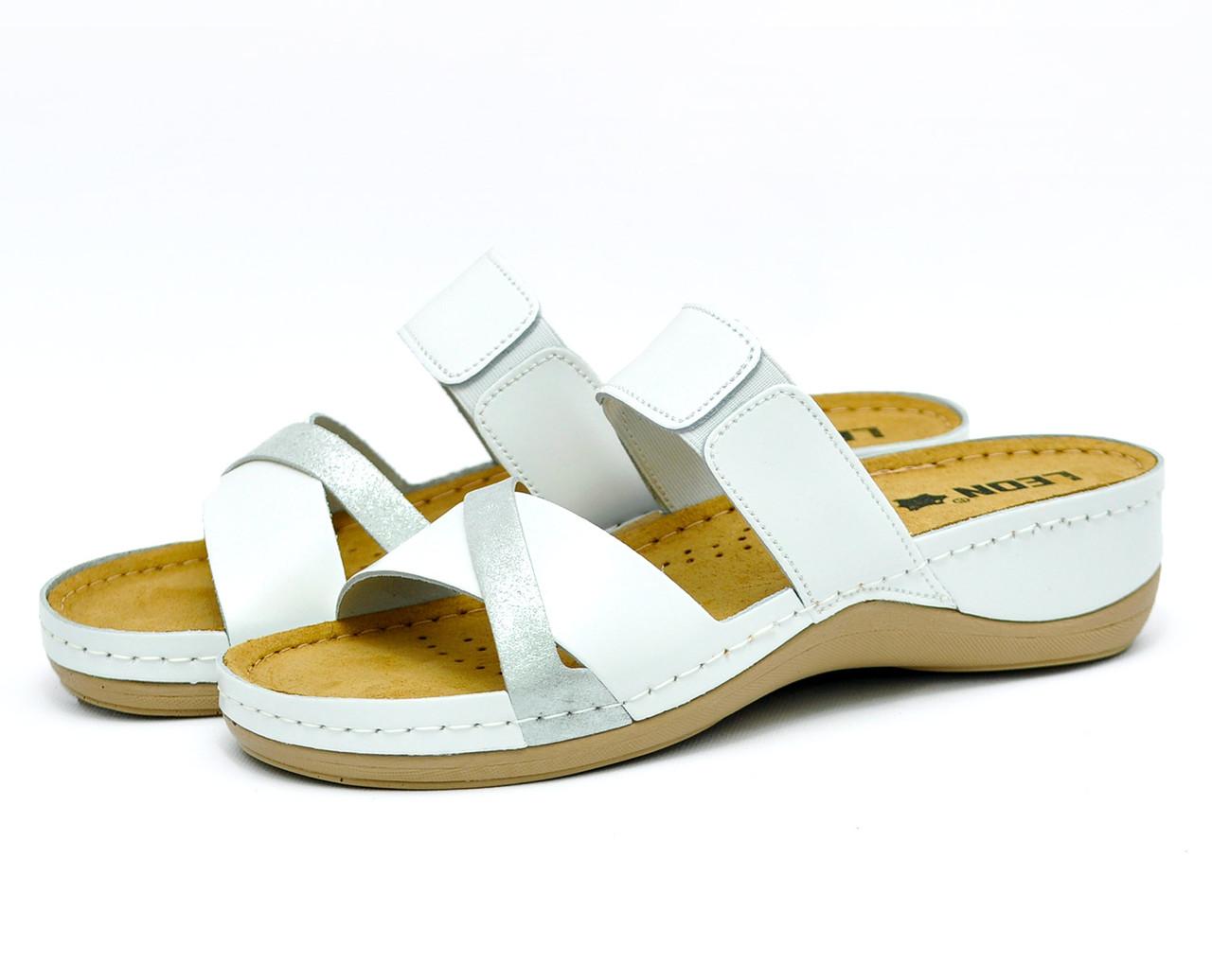 Сабо Leon 909 Белые