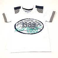 Стильная белая футболка для мальчика (р.1,2,3,4 года)