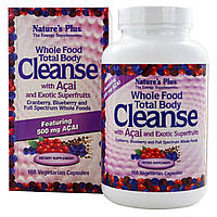 Nature's Plus, Цельнопищевое средство для очищения организма, с ягодами асаи и экзотическими суперфруктами, 168 растительных капсул