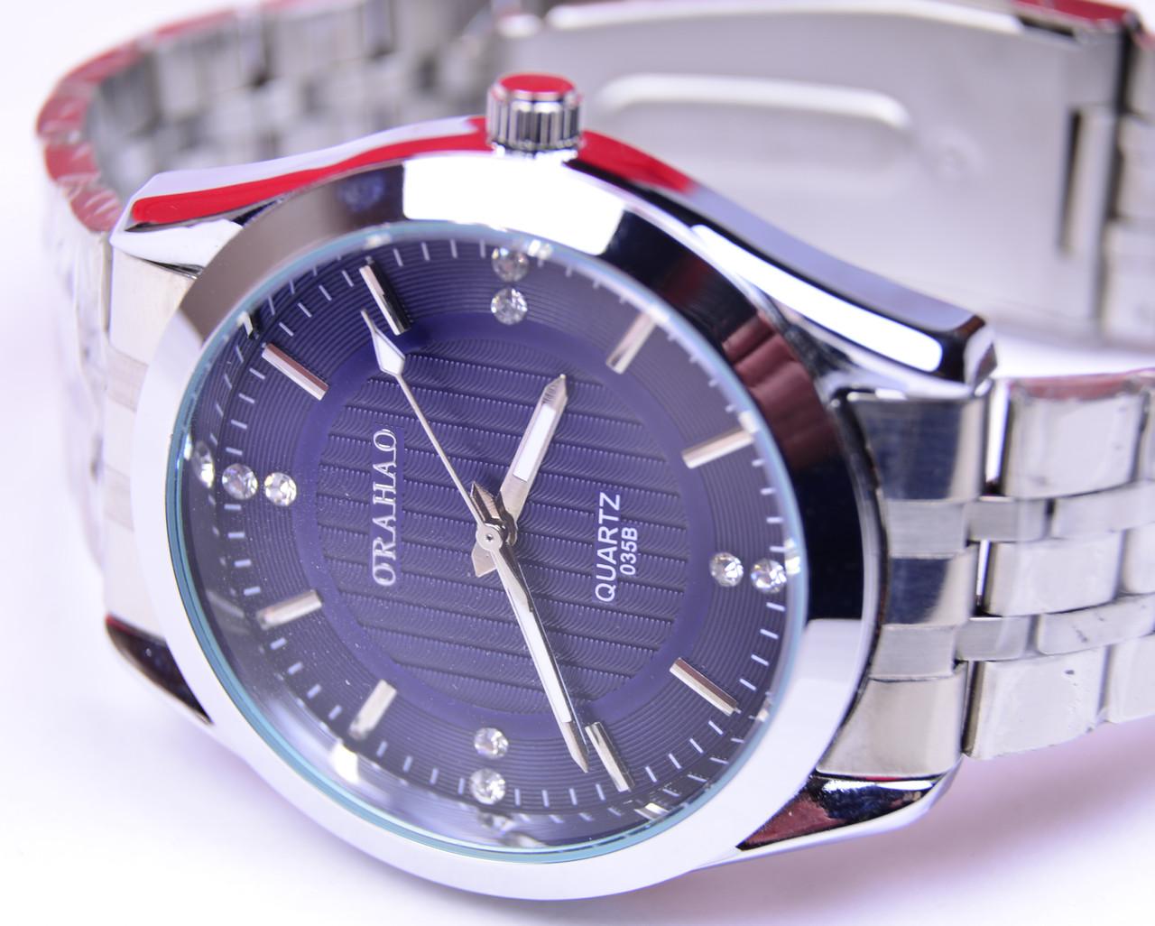 bb46fc10 Мужские наручные часы Orahao синий циферблат - интернет- магазин