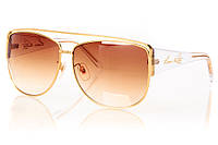 Женские солнцезащитные очки LOUIS VUITTON коричневый градиент, оправа прозрачный/золото