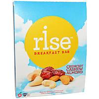 Rise Bar, Питательный батончик, с хрустящим кешью и миндалем, 12 батончиков, 1,4 унции (40 г) Каждый