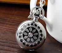 Женские серебряные малые (2,5см) часы подвеска