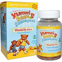 Hero Nutritional Products, Yummi Bears, витамин D3, без сахара, фруктовый вкус, 1000 МЕ, 60 жевательных мишек