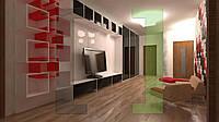 Дизайн-проект интерьера - прихожая-гостиная