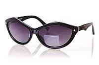 Женские солнцезащитные очки PRADA серо-фиолетовый градиент, оправа глянцевый черный