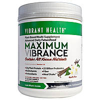 Vibrant Health, Maximum Vibrance, Версия 3.0, стручок ванили, 22,1 унции (626,4 г)