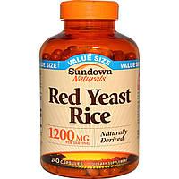 Sundown Naturals, Красный дрожжевой рис, 1200 мг, 240 капсул