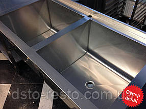 Ванна моечная из нержавеющей стали AISI 304 1200/600/850 мм, фото 2