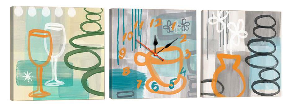 Часы-модульная картина 21 (150x49 см)