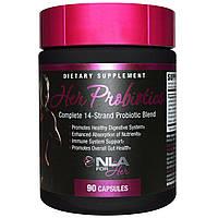 NLA for Her, Пробиотики для нее, смесь из 14 элементов, 90 капсул