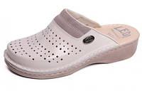 Обувь анатомическая - Сабо женские анатомические (белый/бежевый, т. бежевый)