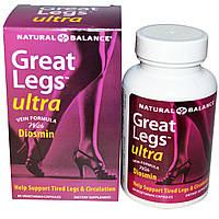 Natural Balance, Great Legs, Средство по уходу за венами, 60 вегетарианских капсул