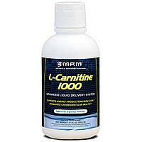MRM, L-карнитин 1000, натуральный ванильный вкус, 17 жидких унций (503 мл)