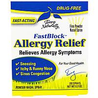 EuroPharma, Terry Naturally, FastBlock, средство от аллергии Nasaleze, порошковый спрей для носа, 0,17 унции