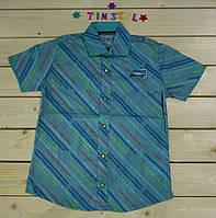 Стильная рубашка ,шведка  для мальчика рост 110-128