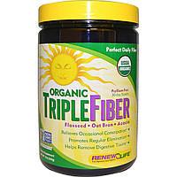 Renew Life, Organic Triple Fiber, 12 унций (340 г)