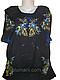 Женская вышитая рубашка с красными лилиями BL-0023, фото 2