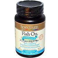 Spectrum Essentials, Рыбий жир, Омега-3, 1000 мг, 100 мягких желатиновых капсул