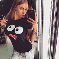 Летняя футболка женская с черепом