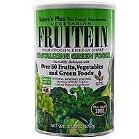 Nature's Plus, Фрутеин, энергетический коктейль с высоким содержанием белка, восстанавливающая зелень, 576 г