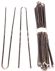 Шпильки для волос 10 шт/75mm никелированные