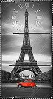 Часы-модульная картина 515 Париж (53x102 см)