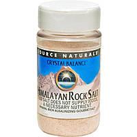 Source Naturals, Кристаллический баланс, гималайская каменная соль, мелкого помола, 12 унций (340 г)