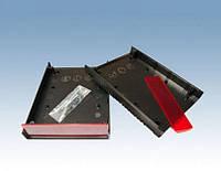 Корпус Z112A чёрный, с красной панелью