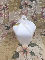 Упаковка для пасхи, коробка для кулича (куполообразная) 110х160мм - Белая