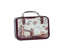 """Коробочка-чемоданчик для чая или леденцов """"Лондон"""" 7х5 см, 25 гр. ТОЛЬКО ОПТОМ!"""