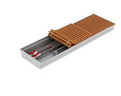 Внутрипольный конвектор с вентилятором, глубина 90/120 мм