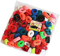 Резинки для волос (80шт) цветные, резинки для волос