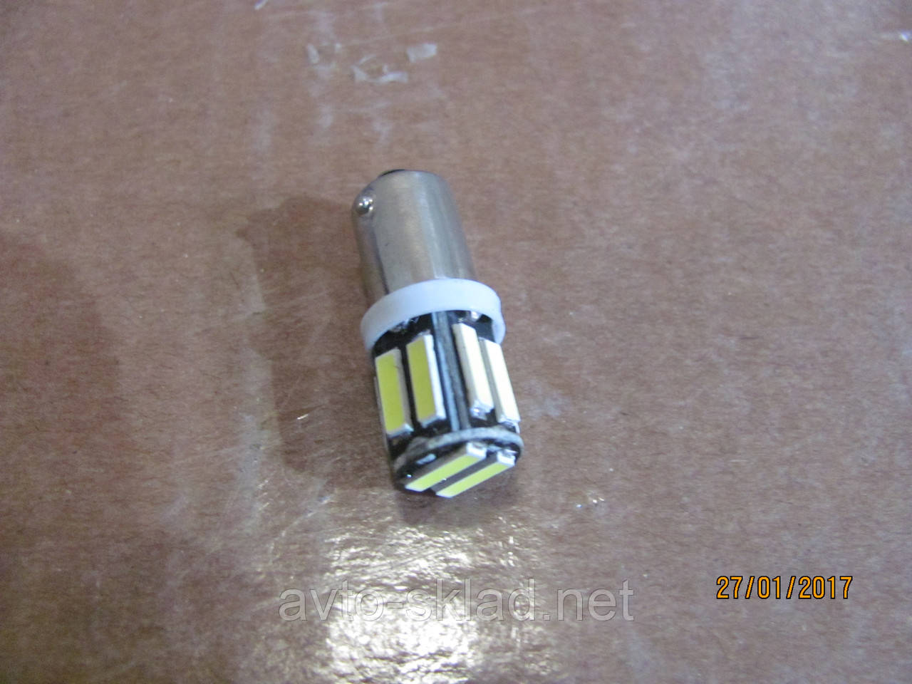 Лампа диод цоколь малый габаритов 10SMD диодов ярко белый