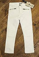 Детские стильные летние джинсы для девочки 5 лет белые р.110