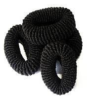 Резинки для волос (12шт) черные, детские резинки для волос