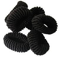 Резинки для волос (50шт) черные, резинки детские для волос