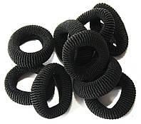 Резинки для волос (50шт) черные, детские резинки для волос