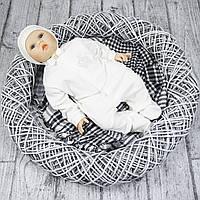"""Нарядный человечек мальчику новорожденному """"LARI"""" р.56 молочный"""