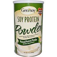 GeniSoy Products, Соевый протеиновый порошок, натуральный протеиновый порошок, 16 унций (454 г)