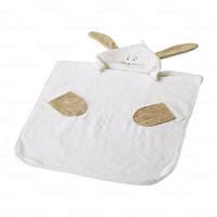 Детское полотенце пончо с капюшоном IKEA FABLER KANIN